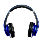 New Twist Bluetooth Headphones: Covertible from Headphone to Speaker Blue