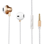 A900 Headphone With Microphone & Volume Control Gold