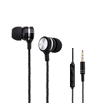 A960 Stereo Earphones With Remote & Mic Black