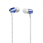 H350 Metal Stereo Earphone With Deep Rich Bass Microphone & Volume Control Blue