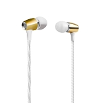 H350 Metal Stereo Earphone With Deep Rich Bass Microphone & Volume Control Gold