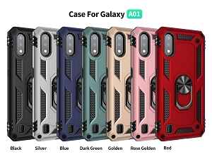 Samsung Galaxy A01 New RHD6 Hybrid Case With Ring