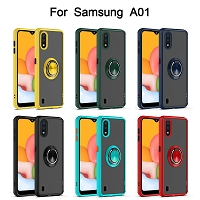 Samsung Galaxy A01 New RHD7 Hybrid Case WIth Ring