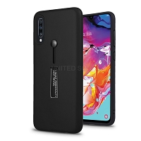 Samsung Galaxy A10s New Hybrid Finger Grip Case With Kickstand Black