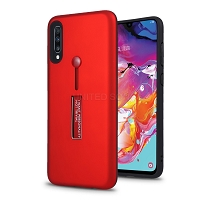 Samsung Galaxy A10s New Hybrid Finger Grip Case With Kickstand Red