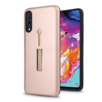 Samsung Galaxy A10s New Hybrid Finger Grip Case With Kickstand Rose Gold