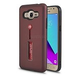 Samsung Galaxy J2 Prime G532/Grand Prime G530 Finger Grip Case With Kickstand Burgundy