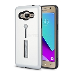 Samsung Galaxy J2 Prime G532/Grand Prime G530 Finger Grip Case With Kickstand Silver