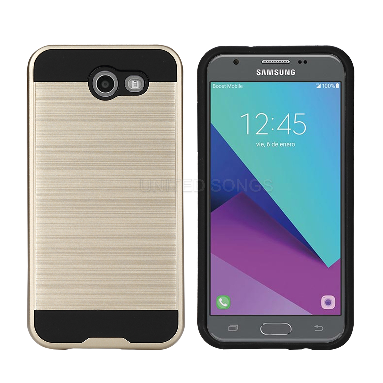 sports shoes befd3 645d8 Samsung Galaxy J3 Prime/J3 Emerge/J3 2017 J327 Hybrid Case Gold