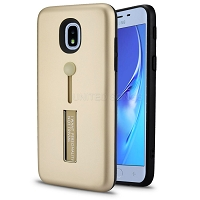 Samsung Galaxy J3 2018 J337/J3 Achieve/J3 Star/Amp Prime 3 New Hybrid Finger Grip Case With Kickstand Gold