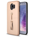 Samsung Galaxy J4 SM-J400 New Hybrid Finger Grip Case With Kickstand Rose Gold
