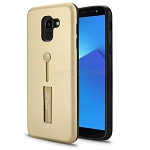 Samsung Galaxy J6 Plus New Hybrid Finger Grip Case With Kickstand Gold
