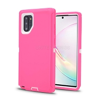 Samsung Galaxy Note 10 Plus New Heavy Duty Defender Case Pink/White