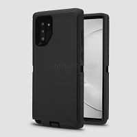 Samsung Galaxy A10e New Heavy Duty Defender Case Black/Black