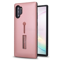 Samsung Galaxy Note 10 Plus New Hybrid Finger Grip Case With Kickstand Rose Gold
