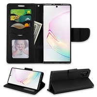Samsung Galaxy Note 10 Plus Wallet Case Black