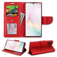 Samsung Galaxy Note 10 Plus Wallet Case Red