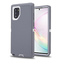 Samsung Galaxy Note 10 New Heavy Duty Defender Case Gray/White