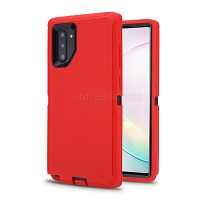 Samsung Galaxy Note 10 New Heavy Duty Defender Case Red/Black