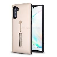Samsung Galaxy Note 10 New Hybrid Finger Grip Case With Kickstand Gold
