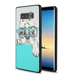 Samsung Galaxy Note 8 New Hybrid Design Case Dog/Glasses