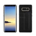 Samsung Galaxy Note 8 New Slim Case With Card Holder & Leather Stand Black
