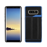 Samsung Galaxy Note 8 New Slim Case With Card Holder & Leather Stand Blue