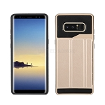 Samsung Galaxy Note 8 New Slim Case With Card Holder & Leather Stand Gold