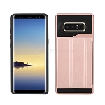 Samsung Galaxy Note 8 New Slim Case With Card Holder & Leather Stand Rose Gold