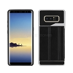 Samsung Galaxy Note 8 New Slim Case With Card Holder & Leather Stand Silver