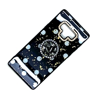 iPhone 8/7 New Pop Holder Stylish Case Black with White Dots