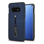 Samsung Galaxy S10e New Hybrid Finger Grip Case With Kickstand Blue