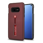 Samsung Galaxy S10e New Hybrid Finger Grip Case With Kickstand Burgundy