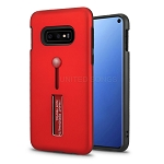 Samsung Galaxy S10e New Hybrid Finger Grip Case With Kickstand Red