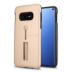 Samsung Galaxy S10e New Hybrid Finger Grip Case With Kickstand Rose Gold