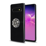 Samsung Galaxy S10 New Pop Holder Stylish Case Black