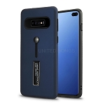 Samsung Galaxy S10 Plus New Hybrid Finger Grip Case With Kickstand Blue