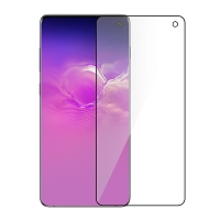 Samsung Galaxy S10 Premium Full Size Tempered Glass Screen Protector Black (No Touch ID)