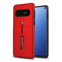 Samsung Galaxy S10 New Hybrid Finger Grip Case With Kickstand Red
