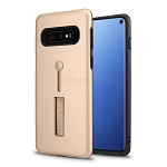 Samsung Galaxy S10 New Hybrid Finger Grip Case With Kickstand Rose Gold