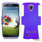 Samsung Galaxy S4 Mesh Hybrid Case Purple/White