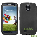 Samsung Galaxy S4 Heavy Duty Case With Screen Protector Black/Black