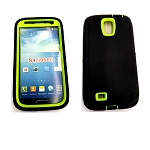 Samsung Galaxy S4 Heavy Duty Case With Screen Protector Black/Green