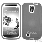 Samsung Galaxy S4 Heavy Duty Case With Screen Protector Gray/White