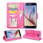 Samsung Galaxy S6 Wallet Case Hot Pink