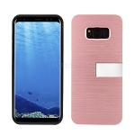 Samsung Galaxy S8 Plus Hybrid Slim Case With Kickstand & Card Holder Rose Gold