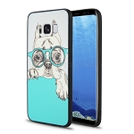 Samsung Galaxy S8 New Hybrid Design Case Dog/Glasses