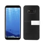 Samsung Galaxy S8 Hybrid Slim Case With Kickstand Case & Card Holder Black