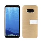 Samsung Galaxy S8 Hybrid Slim Case With Kickstand Case & Card Holder Gold
