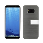 Samsung Galaxy S8 Hybrid Slim Case With Kickstand Case & Card Holder Gray